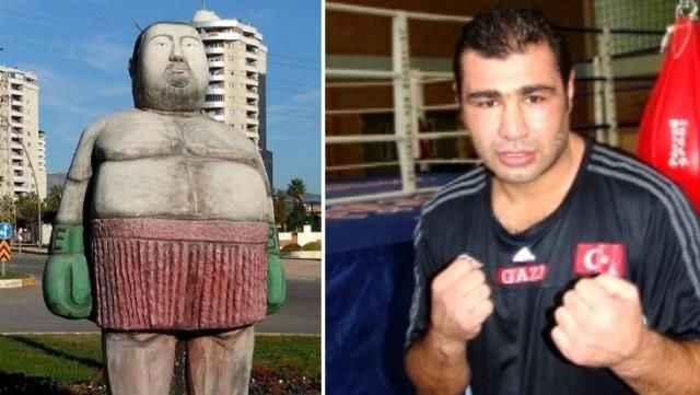 Büyük tepki çekti! Efsane boksör Sinan Şamil Sam adına heykel yapıldı