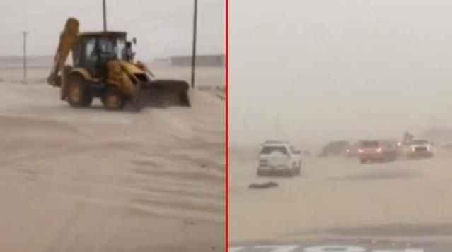 Göz gözü görmüyor! Kuveyt'i kum fırtınası vurdu
