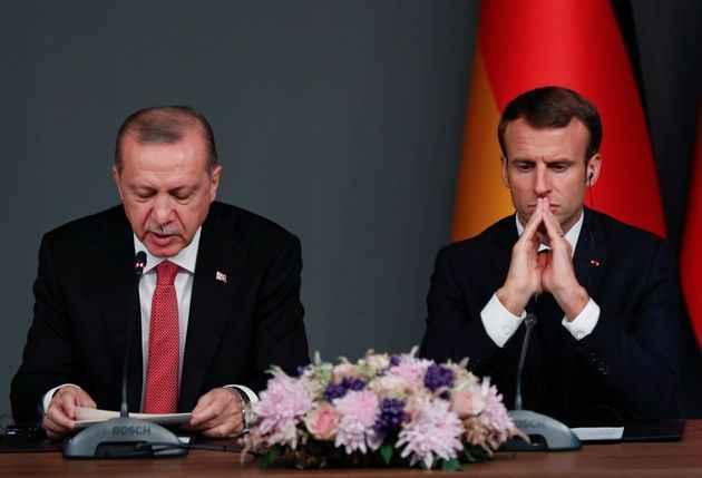 NATO Zirvesi: Cumhurbaşkanı Erdoğan, Macron ile görüşüyor