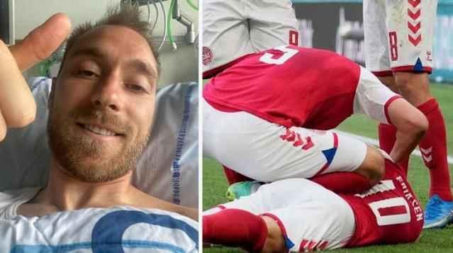 Maç sırasında kalbi duran futbolcu Eriksen'den ilk paylaşım!