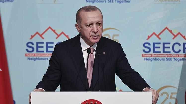 Antalya'da Erdoğan'dan Avrupalılara tatil çağrısı