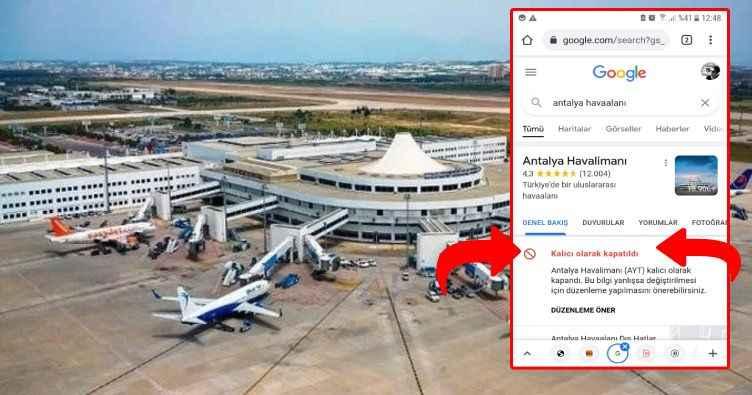 Google'dan Antalya Havalimanı skandalı!