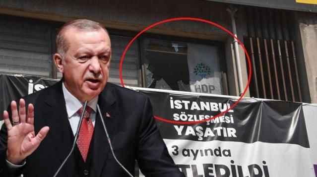 Cumhurbaşkanı Erdoğan, HDP İzmir İl Binası'na düzenlenen saldırıyı kınadı