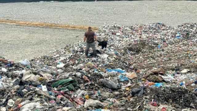 Tonlarca çöpün arasında bebek cesedi aradılar