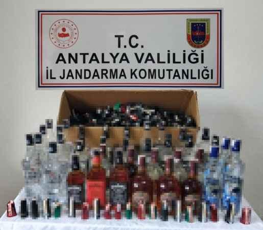 Antalya'da sahte içki satan marketçiye suçüstü! Kendi imal ediyormuş