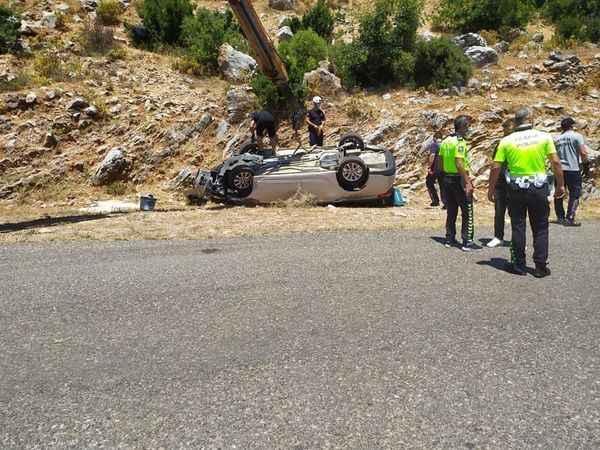 Alanya'da araç 20 metrelik uçurumdan yuvarlandı: 1 ölü