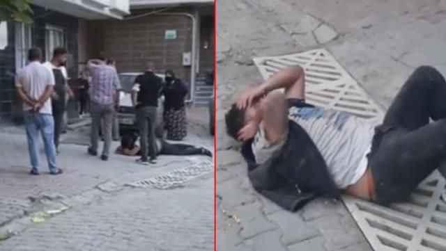 Karısının fotoğrafını çeken adamı yakalayıp meydan dayağı çekti!