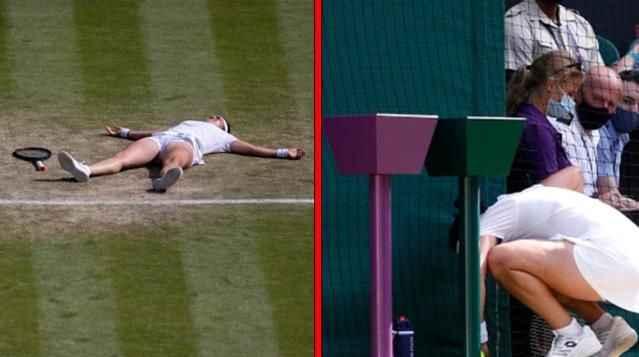 Korkutan anlar! Yere yığılan tenisçi herkesi korkuttu