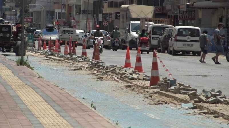 Tartışmalara neden olmuştu! Mahmutlar'daki bisiklet yolu kaldırılıyor