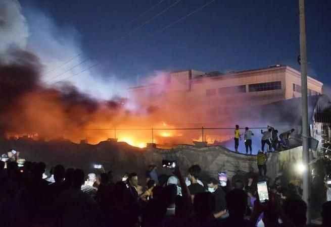 Son Dakika: Irak'taki koronavirüs hastanesinde çıkan yangında ölü sayısı artıyor