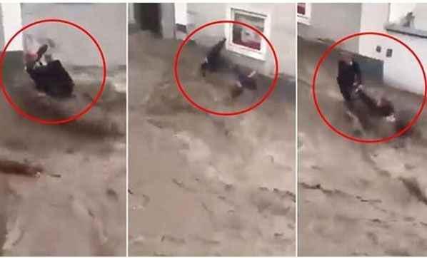 Mucize anlar! Türk çifti ölümden komşuları kurtardı