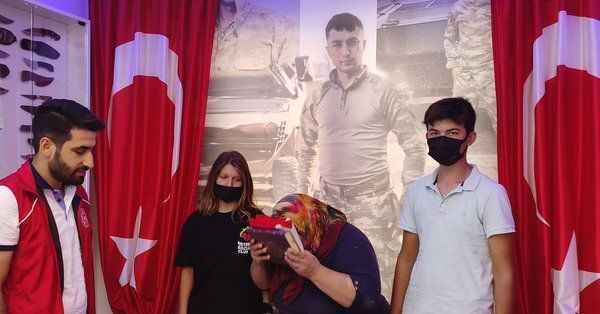 Alanya'da şehit ailelerine Kurban Bayramı ziyareti
