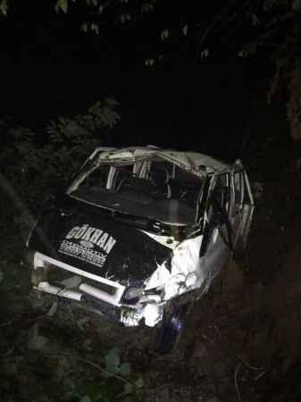 Feci kaza! Yayladan dönen araç uçuruma yuvarlandı: 1 ölü, 10 yaralı