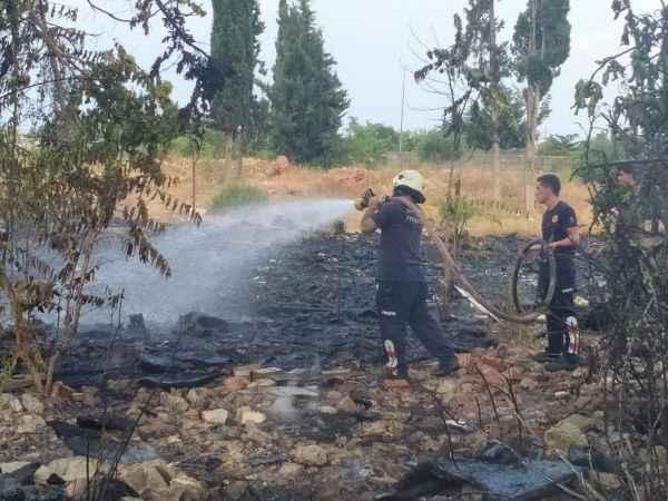 Antalya'da çıkan yangın paniğe yol açtı