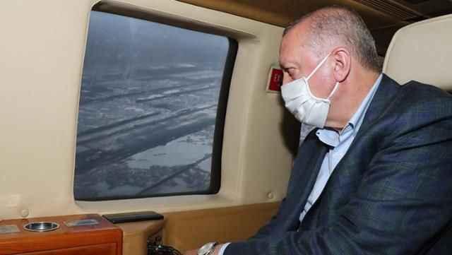 Cumhurbaşkanı Erdoğan'ı taşıyan helikopter 2 kez iniş yapamadı