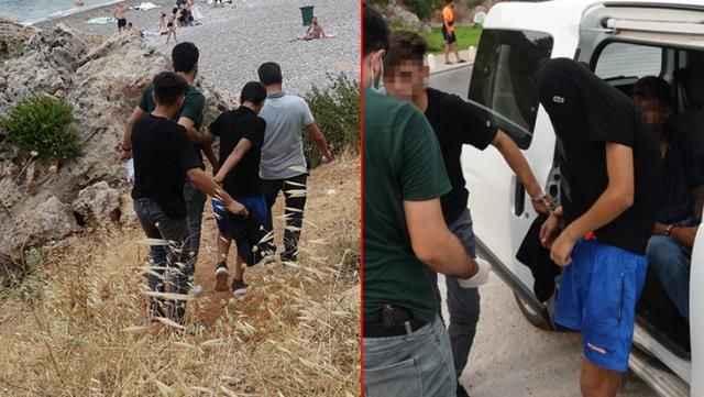 Vatandaşlardan korkudan denize giremiyordu! Antalya falezlerde kıskıvrak yakalandılar