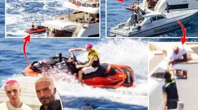 Beckham'ın teknesini polis bastı! Oğlunun işlediği suç yüzünden tatil zehir oldu