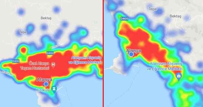 Alanya yeniden kırmızı! İşte korkutan korona haritası