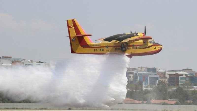 Manavgat'ta yangınında köylülerin iddiası: Söndürme uçağı düştü!