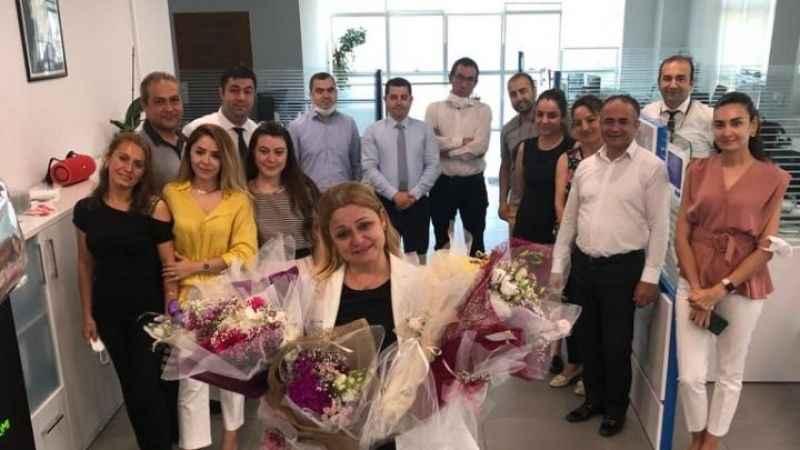 Zehra Vural için banka şubesinde etkinlik yapıldı.