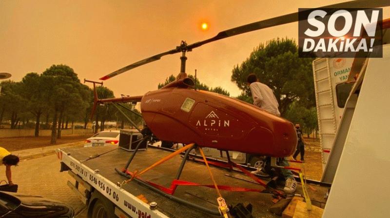 Son Dakika: Manavgat'taki yangın insansız helikopter ile gözlenecek
