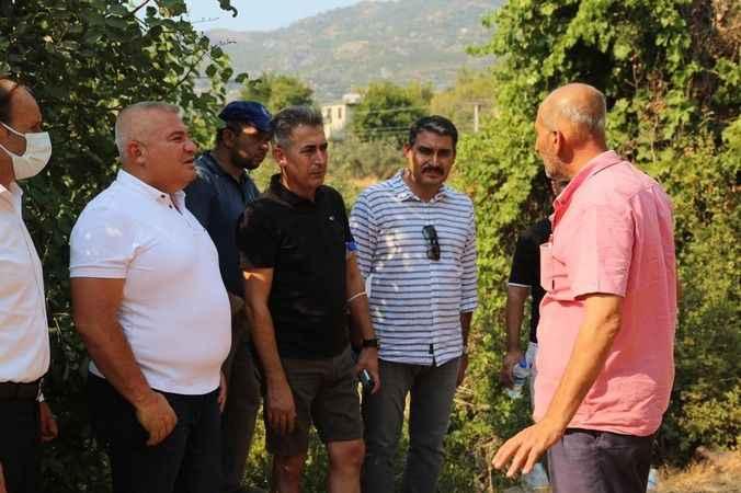 Başkan Şahin Alanya'daki yangın bölgesinde