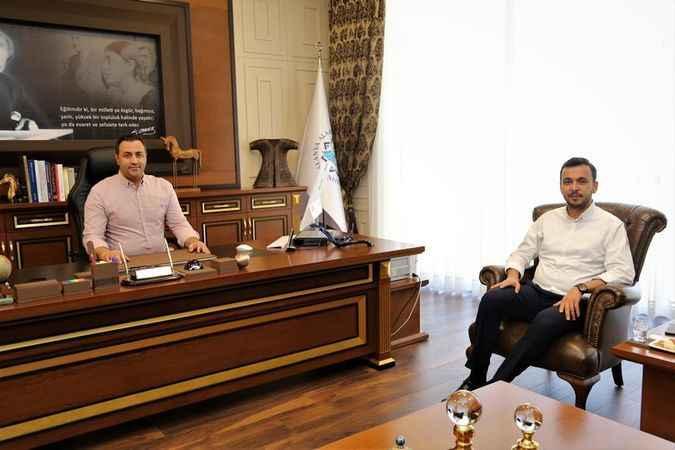 Başkan Toklu, Rektör Kalan'la görüştü