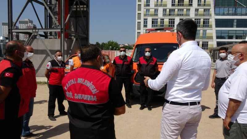 Kartal Belediyesi Sivil Savunma Ekipleri, Manavgat'a doğru yola çıktı