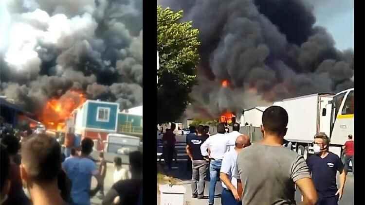 Mersin Organize Sanayi Bölgesi'nde fabrika yangını