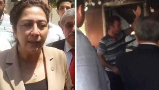Yangın mağduru vatandaş, evine gelen siyasetçiyi içeri sokmadı