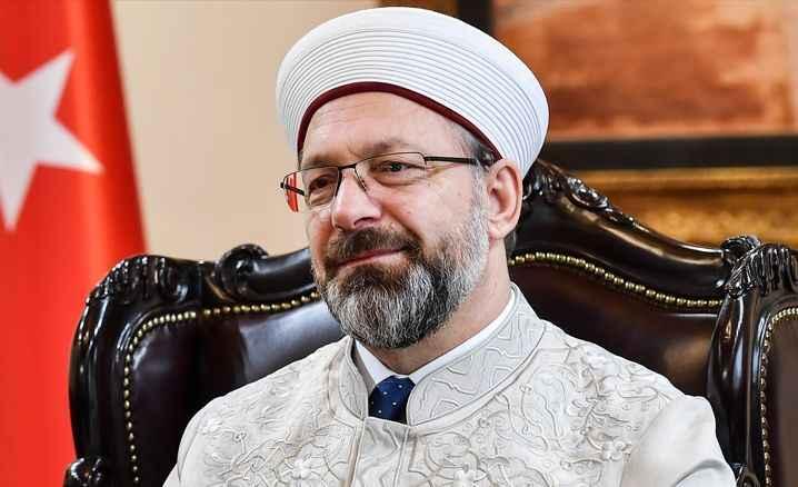 Diyanet İşleri Başkanı Erbaş'tan  geçmiş olsun mesajı