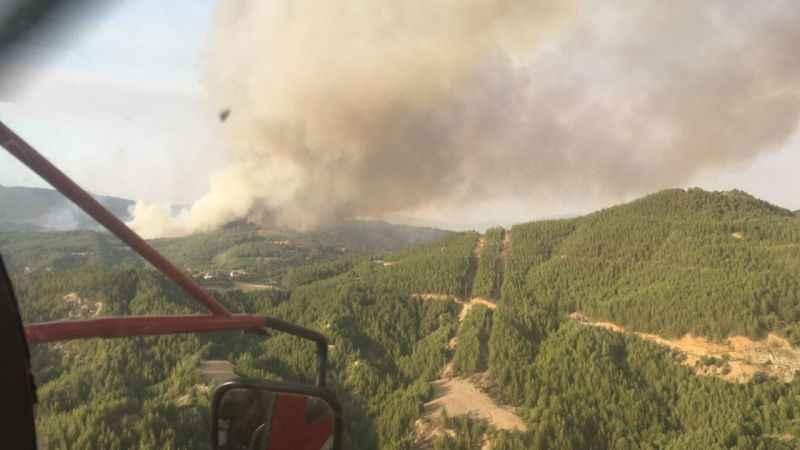 Orman yangınlara bir yenisi daha eklendi