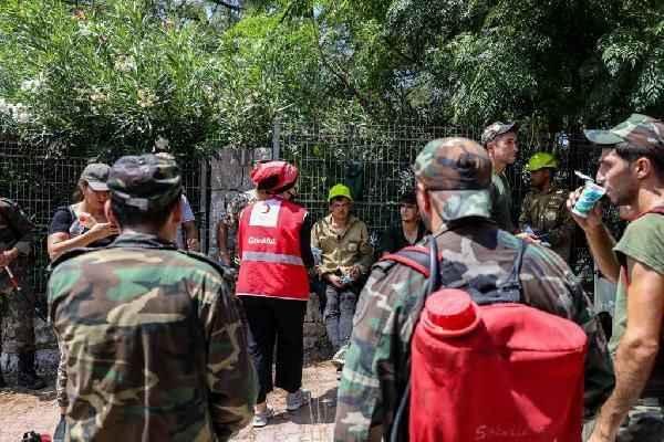 Kızılay'dan Azerbaycanlı yangın söndürme ekibine destek