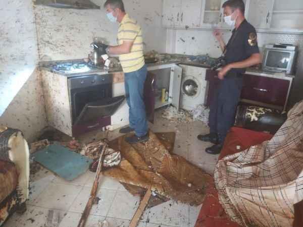 Tüpten sızan gaz adeta bomba etkisi yarattı