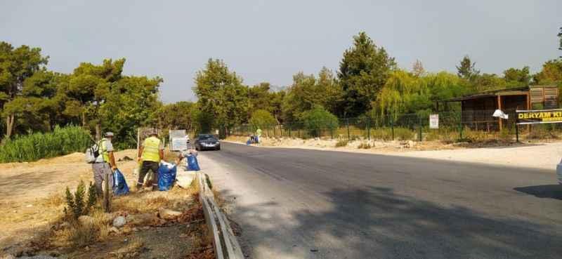 Antalya Kepez'in ormanlarında çevre temizliği