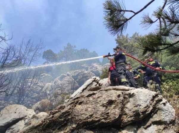 Bakan Gül, yangında etkin mücadele alan CEKUT ekipleriyle gurur duyduğunu ifade etti