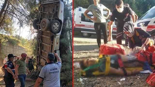 Kara haber! Minibüs şarampole yuvarlandı: 8 ölü, 11 yaralı