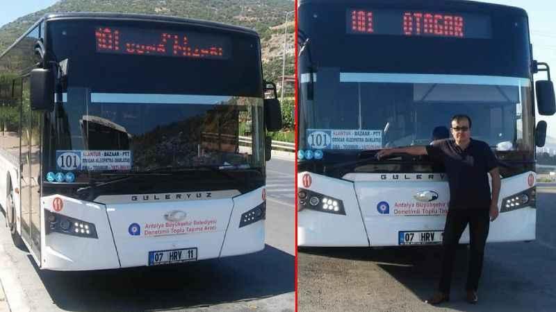 Alanya'da yasa boğan ölüm! Halk otobüsü şoförü kalbine yenildi