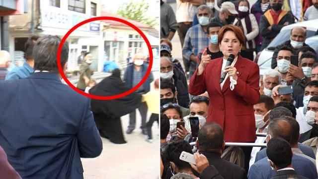 Akşener'in konuşması sırasında sorulan soru ortamı gerdi, polis anında müdahale etti!