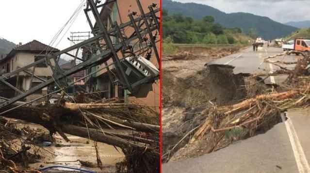 Son Dakika: Sel felaketi! Köprü ve yollar çöktü, evi yıkılan 80 yaşlarında bir kadın aranıyor