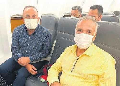 Çavuşoğlu ile tarifeli uçakta gündem Alanya ve yangınlar