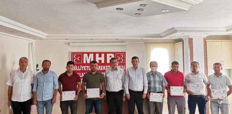 MHP Alanya'da yetki belgeleri veriliyor