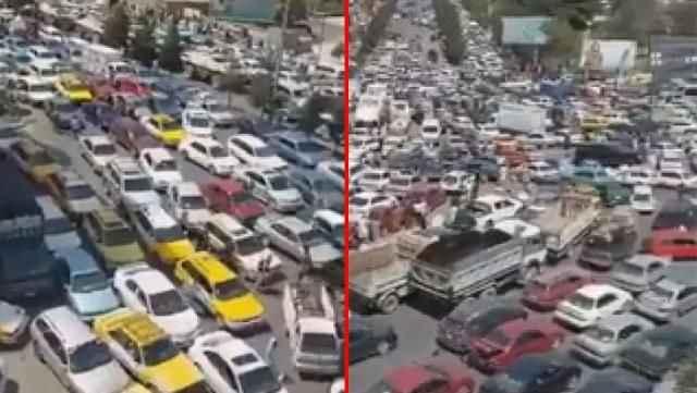Taliban'dan kaçış başladı! Kabil'de binlerce insan sokaklara döküldü, trafik kilitlendi
