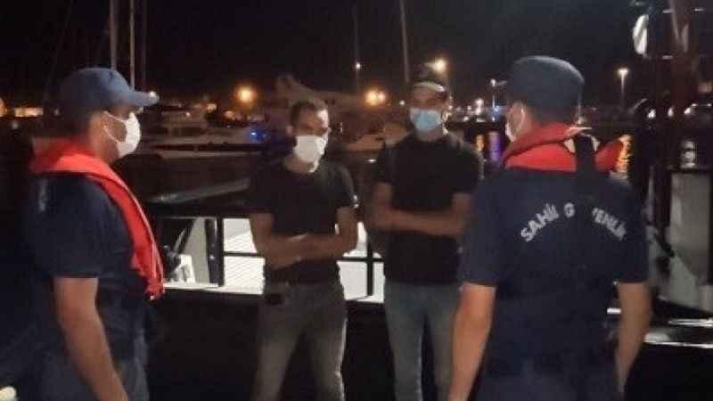 Ticari gemide 2 düzensiz göçmen yakalandı
