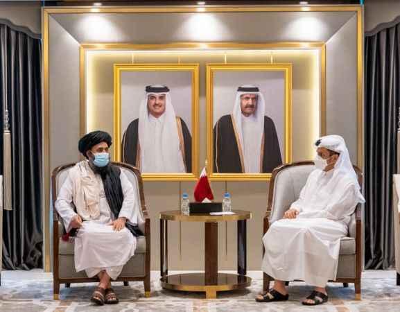 Katar Dışişleri Bakanı, Taliban Siyasi Ofis Başkanı Birader ile görüştü