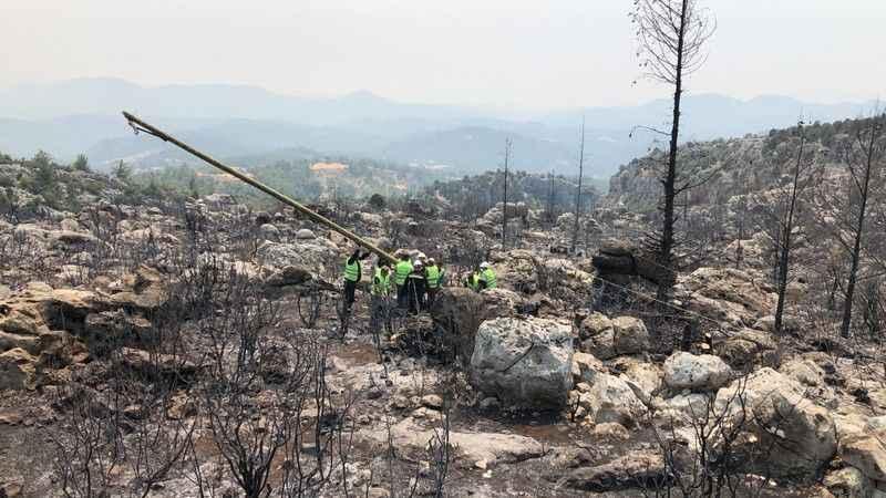 Antalya'daki yangınlarda 54 kilometrelik hasar
