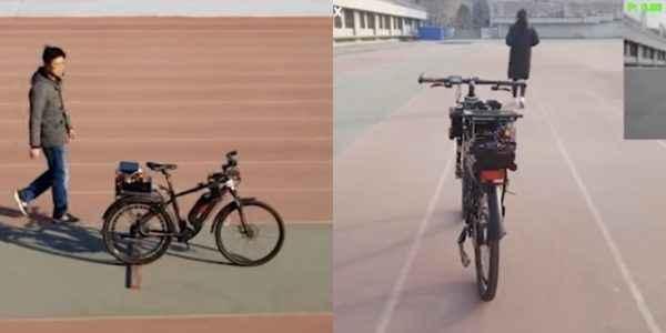 Çin'li genç, kendi kendine gidebilen bisiklet icat etti