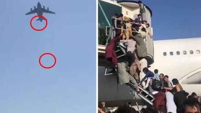 Dünya hayretler içerisinde izledi! Havalimanındaki görüntüler için Taliban'dan ilk yorum