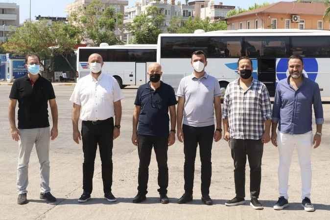 AK Parti Alanya'dan otogar ziyareti