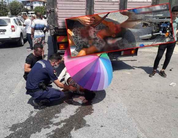 Alanya'da feci kaza! Otomobil ile motosiklet çarpıştı: 1 ağır yaralı
